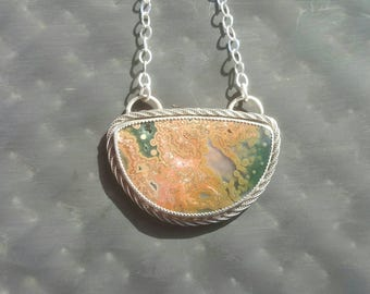 Ocean jasper artisan necklace