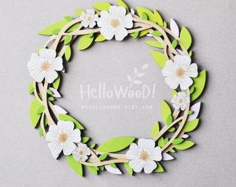 EASTER Flower Wreath Decoration