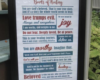 Beads of Healing Manifesto (unframed)