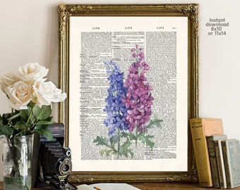 Lavender poster - Creative decor - LAvender decor -  Poster Dictionary art, Dictionary Art - Print Wall Decor, Nursery Wall Art