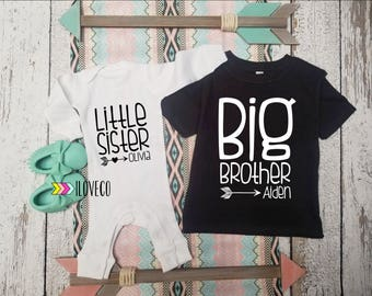 Big Brother Little Sister Outfit  / Big Brother Little Sister / Big Brother Shirt /