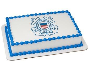 "US Coast Guard Logo - Edible Image - 6 1/4"""