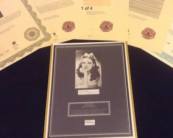 Authentic JUDY GARLAND (Wizard of Oz) Hairlock Photo Provenance Certified COA