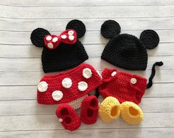 Crochet mouse hat, diaper cover, newborn photo prop, Halloween costume, baby costume, crochet baby hat, baby mouse hat, crochet animal hat