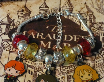 Hermione, Harry, and Ron - A Harry Potter Inspired Charm Bracelet