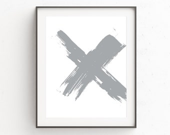 Large Grey Abstract | Printables | Wall Art Livingroom