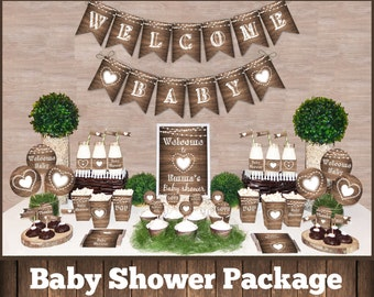 Rustic baby shower Etsy