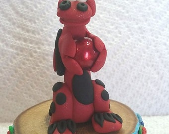 Dragon figurine red red#1