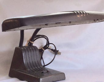 Mid Century Industrial Fluorescent Desk Lamp