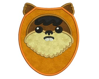STAR WARS, Ewok * Machine Applique Embroidery * Instant Digital Download