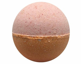 Grapefruit Bath Bomb, Bath Fizzy, Handmade Spa Product, Epsom Salts, Hydrating Coconut Oil, Sensitive Skin, Great Gift for Her