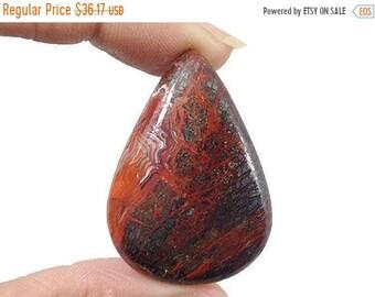 90% SALE Crazy Lace Agate cabochon 75Ct (41x29x7 mm) Pear Shape Natural gemstone - NS17274