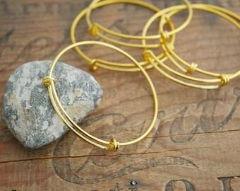 Adjustable Wire Charm Bracelet Blank Gold Bracelet Form Charm Bracelet Adjustable Bracelet (1) 900G