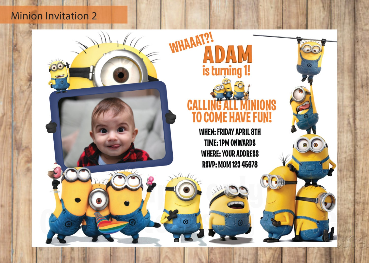 Minion Invitation Despicable Me Invitation Printable