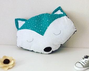 Emerald Fox pillow