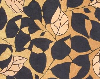Black &Gold Floral Wallpaper Pattern Digital Paper Background Digital Print