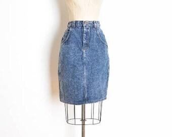 vintage 80s skirt, high waisted skirt, 80s jean skirt, lee denim skirt, 80s clothing, pencil skirt, acid wash, stone wash, 80s denim, S