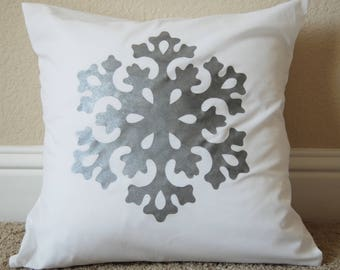 Christmas Decorative Pillow with Snowflake