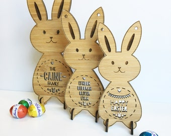 Personalised  Bamboo Easter Bunnies (set of 3)
