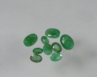 10 cts lot faceted emerald oval cut Zambia