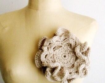 Crochet PATTERN Large Flower Brooch Romantic Floral Pin Crochet Flower Corsage Pattern, 7