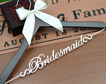 Bridesmaids' Gifts, Thank You Gift, Wedding Hangers, Bridal Shower Party Gifts, Wedding Dress Hanger, Bridesmaid Hanger Gift, Bridal Hanger