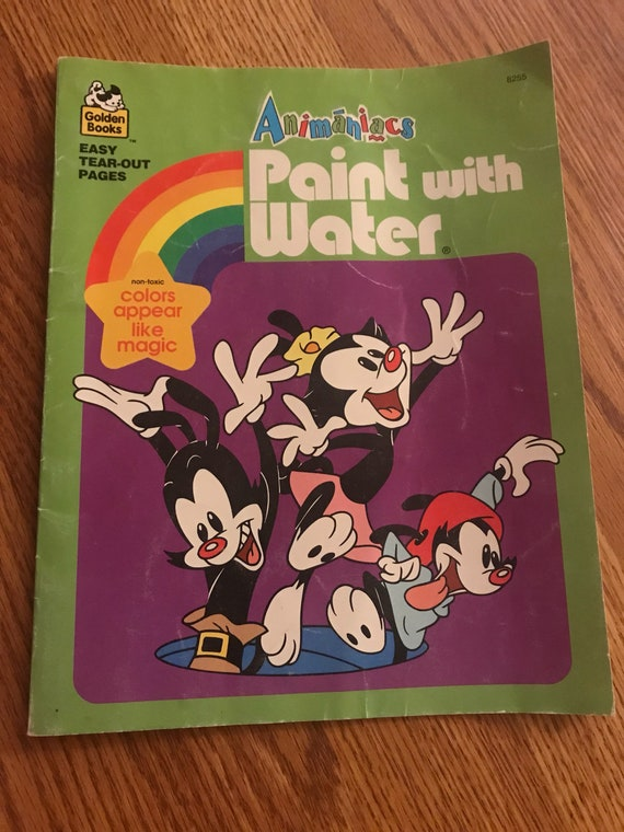 Animaniac paint with water coloring book