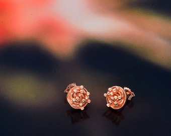 Botánica rose gold earrings