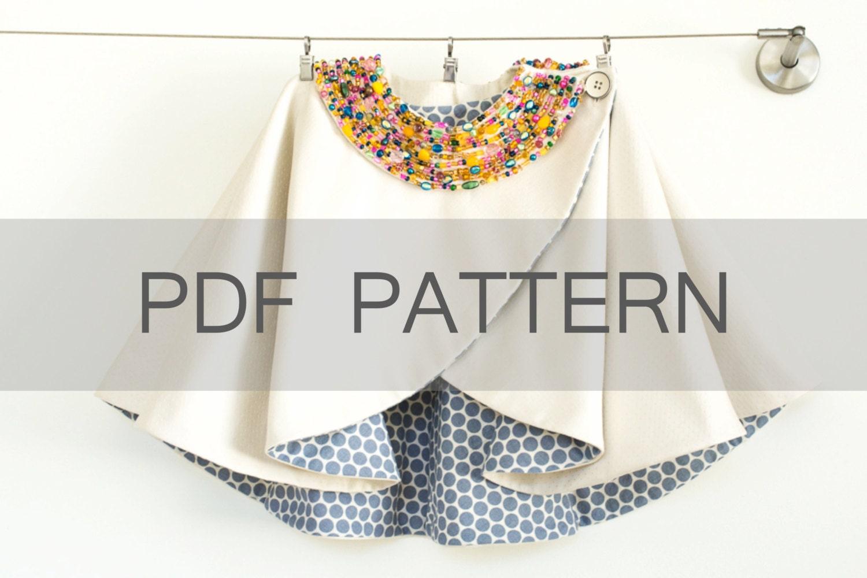 Girl Cape PDF A4 cape pattern winter coat PDF girl coat