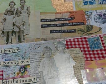 2 x Altered Vintage Envelopes