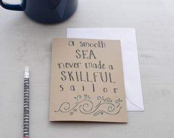 Thinking of You Card - Encouragement Card - Encouraging Quote - Inspiration Card - Greeting Card - Words of Encouragement - Don't Give Up