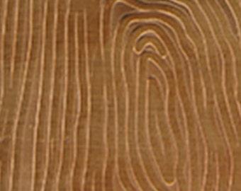 "Patterned Copper Sheet ""Wood Grain"" 2"" x 6"" (choose 18 thru 24ga)  (CSP32XX)"
