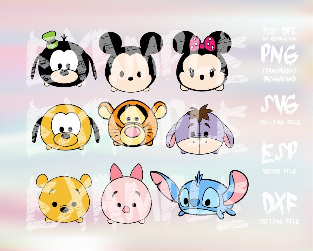 Cómo Dibujar Olaf En La Versión Disney Tsum Tsum: Disney Tsum Tsum 3 Clipart SVG PNG 300dpi ESP Vector