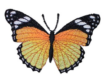 Monarch Butterfly Applique Patch (Iron on)