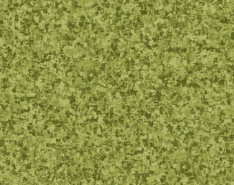 Olive Green Solid Textured Fabric - Quilting Treasures QT Basics Color Blend - 23528 GH - 1/2 yard