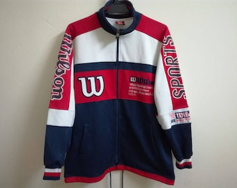 Vintage Wilson Brand Chicago usa Athletic Jacket | Spell Out | Big Logo | Multicolored | Large