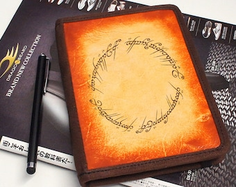 Kindle Leather Cover - The One Ring - Customizable - Free Personalization