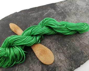 Cord shamballa macramé green cord 1 mm Nylon cord