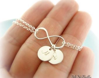 Infinity Bracelet. Mom Bracelet. Initial Infinity Bracelet. Bridesmaids Bracelet. Wedding Jewelry