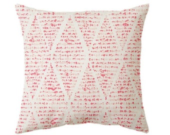 Raspberry pink cushion covers, red pillow covers. raspberry pink red throw pillow covers, red bedding, zipper closure, diamonds