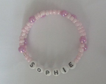 Children's Memory Wire NAME Bracelets - made to order