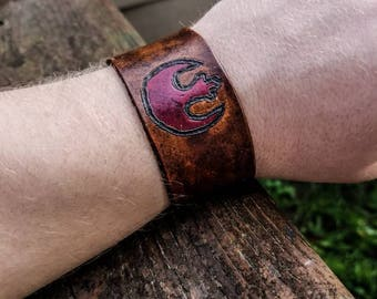 Rebel Alliance Leather Bracelet Cuff