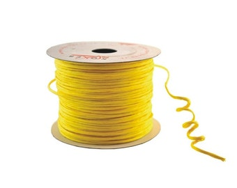 Paper Cord Yellow Wired Flexible Tourbillon Craft Cord 10 yards