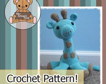 Amigurumi Giraffe Crochet Pattern pdf cute diy doll baby gift
