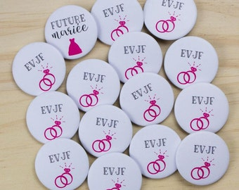 15 + 1 bride bachelorette party badges