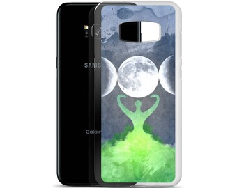Wiccan Mother Earth Goddess Moon Samsung Phone Case