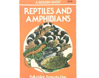 Reptiles and Amphibians- Golden Nature Guide / Vintage Field Guide / Book on Snakes Frogs Lizards / Vintage Golden Guide / Homeschool Book