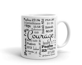 Courage Mug w/ Scriptures