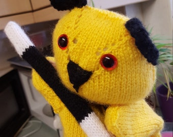 Sooty the hand knitted puppet*