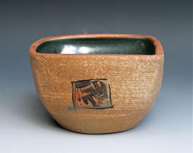 Handpainted Square Bowl 3